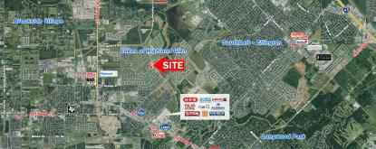 3.08 AC - Pearland Pkwy & Forest Park Ln Aerial