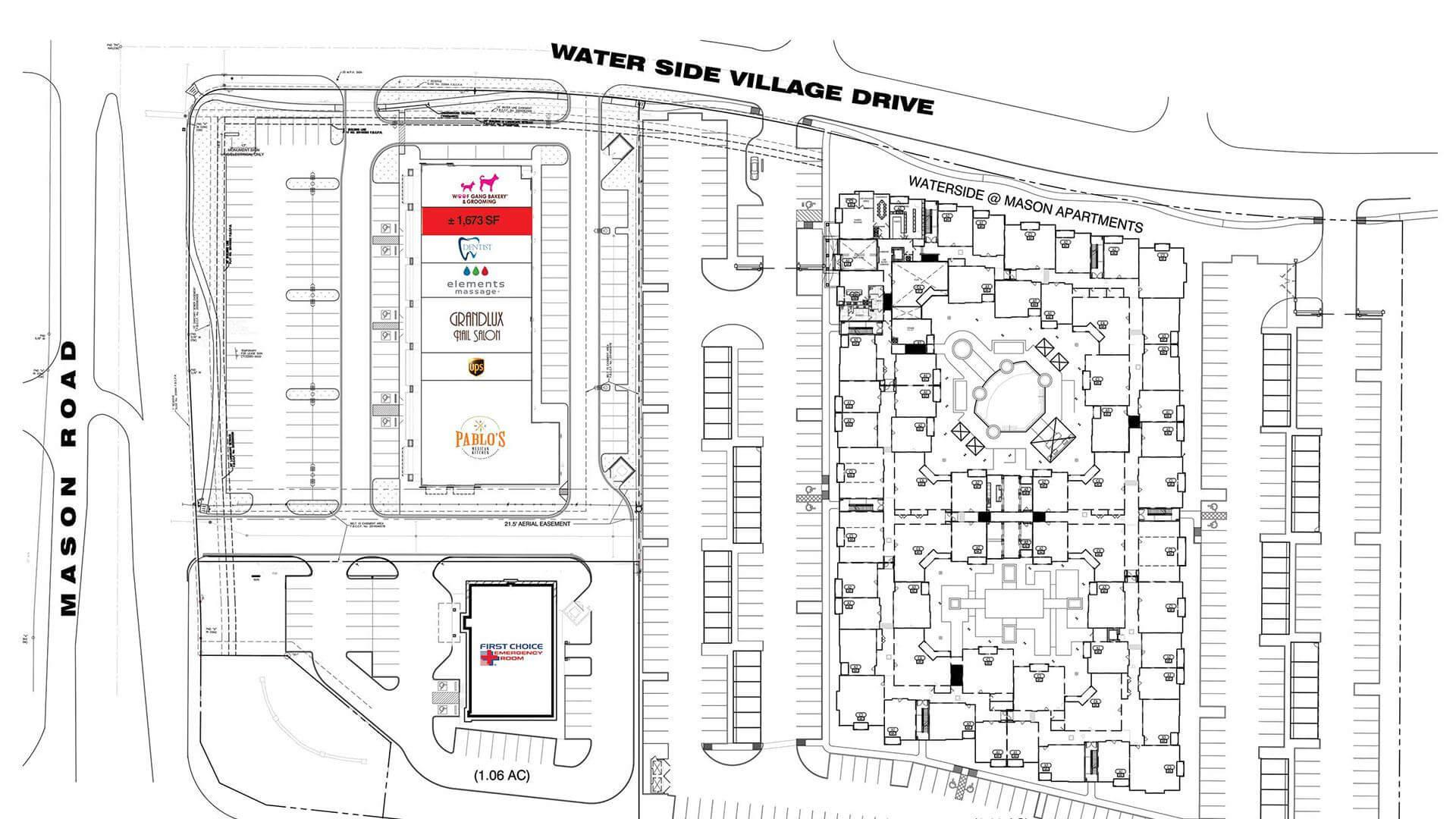 Grand Parkway and Mason Site Plan